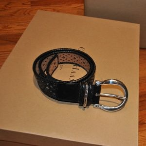 Brighton leather belt with a silver buckle, size M